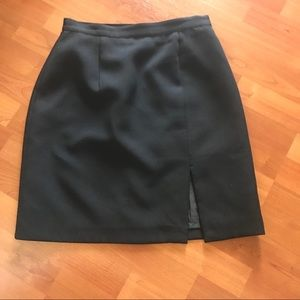 Boutique Europa Black Skirt w/ Front Slit